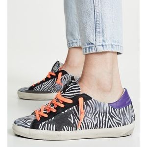 Golden Goose Superstar Sneaker Mini Zebra/Fluo NIB